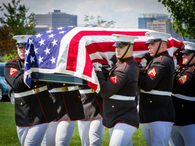 US Marine Casket Team in Section 57