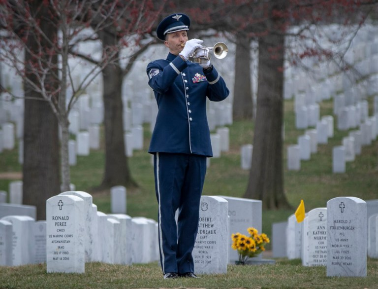 US Air Force Bugler in Section 60