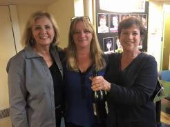 Arlington Selectman Diane Mahon (c) was our first guest speller/victim