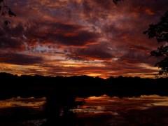 The sun sets over the Arlington Reservoir. 3 of 6.