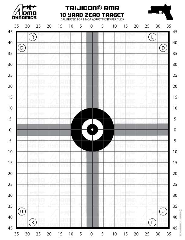 image relating to 100 Yard Zero Target Printable referred to as Zeroing emphasis printable