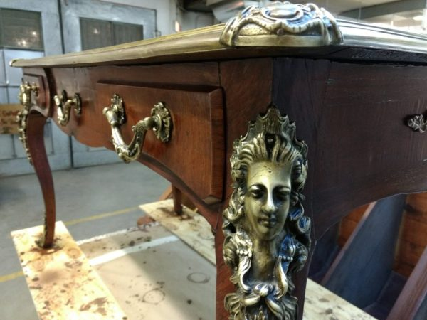 Refinishing antique desk