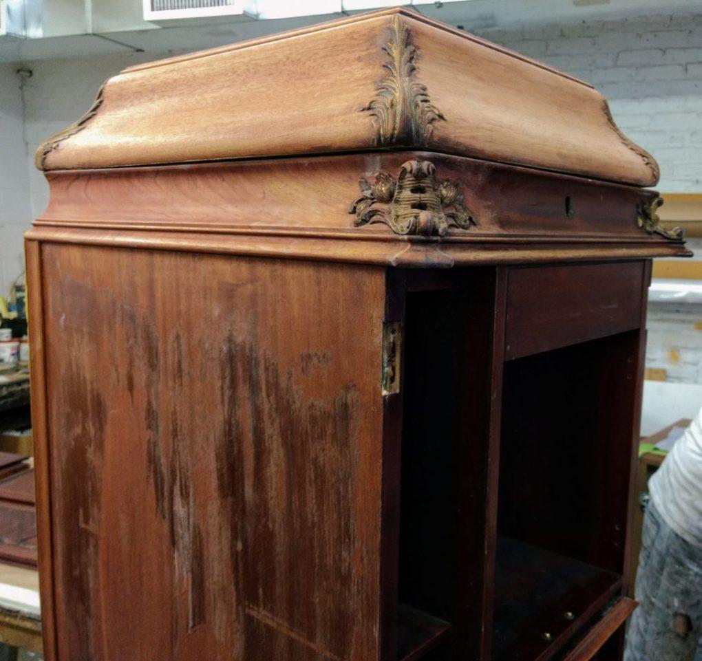 Refinish antique furniture