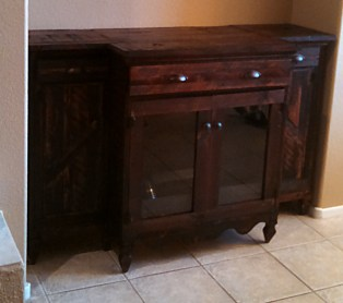 Reclaimed Crate Wine Cabinet