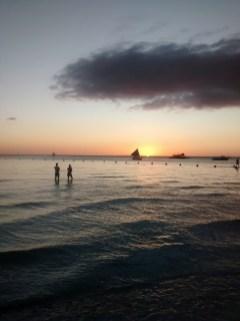 Atardecer en White Beach, qué ver en Boracay