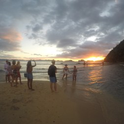 Atardecer en Playa Las Cabañas Beach