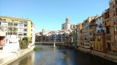 Postal de Girona - Río Onyar