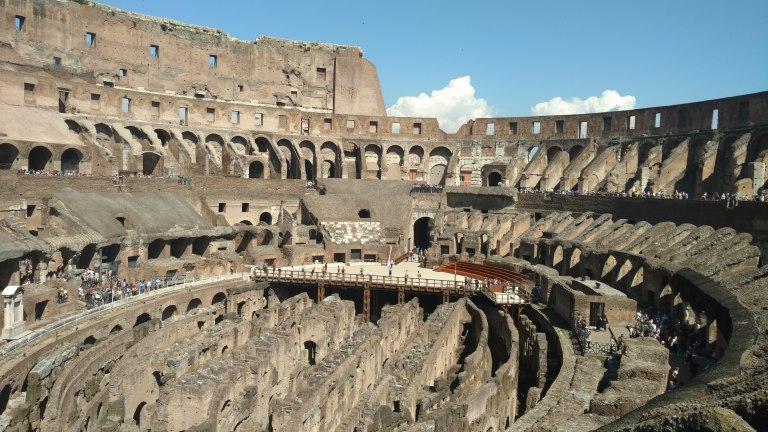 Coliseo por dentro, qué ver en Roma