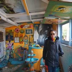 Intervenciones artísticas en el Nommadic Community Garden