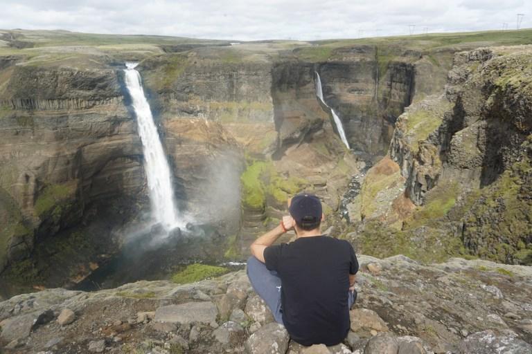Cascada Haifoss, desviándose de la tradicional ruta por Islandia, un lugar imperdible.