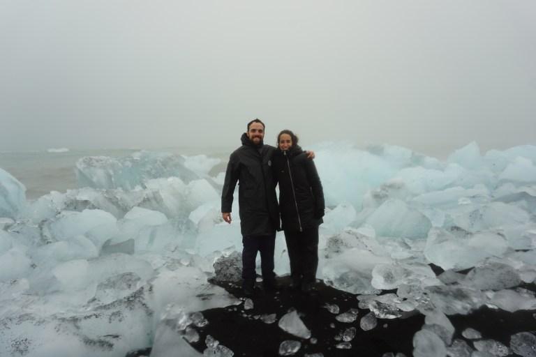 Diamond Beach, visita obligada en la  ruta por Islandia.