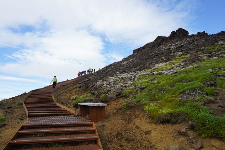 Subida al Cráter Saxhóll