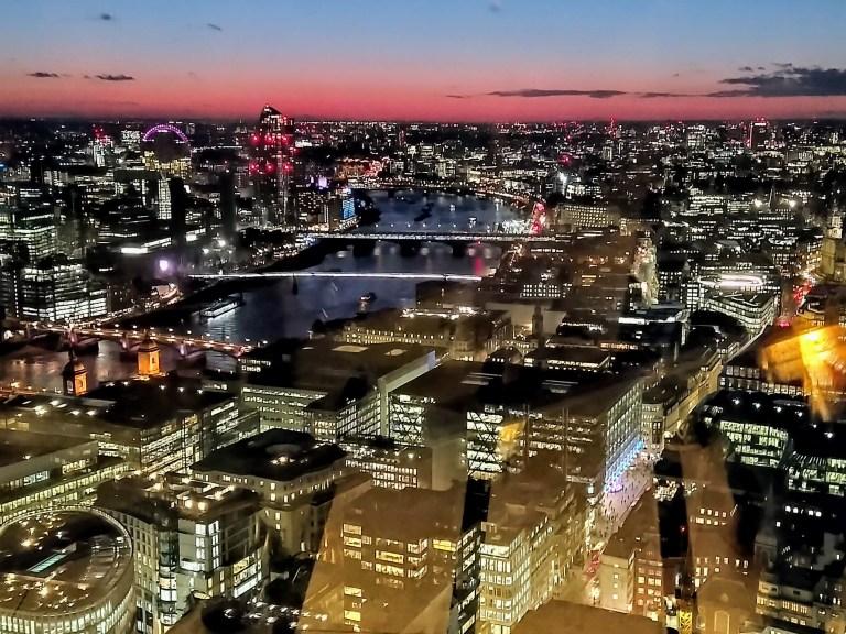 Sky Garden, qué hacer en Londres de noche