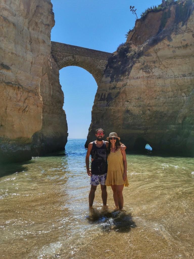 Praia dos Estudantes, una de las playas más populares de Lagos Portugal