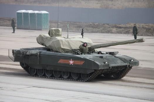 Hlavní bitevní tank T-14 objekt 148 na těžké jednotné pásové platformě Armata