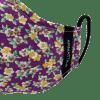Mascarilla morada floral 2