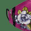 Mascarilla higienica calavera flor fucsia 2