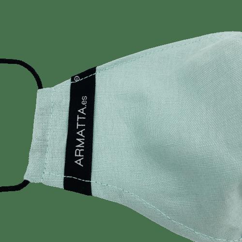 Mascarilla de lino verde ARMATTA 1