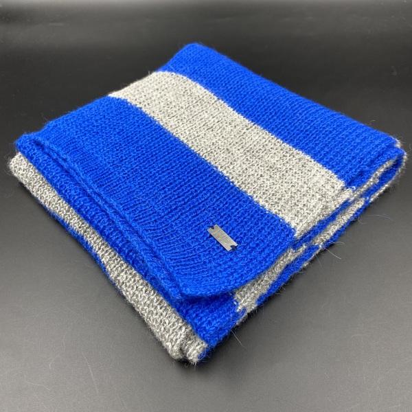 Bufanda de alpaca rayas azules ARMATTA 2