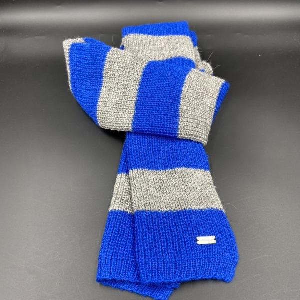 Bufanda de alpaca rayas azules ARMATTA 5