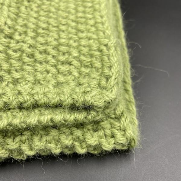 Bufanda de alpaca trenzado verde ARMATTA 2