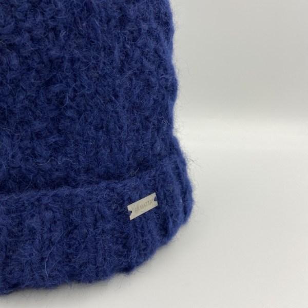 Gorro alpaca trenza azul ARMATTA 3