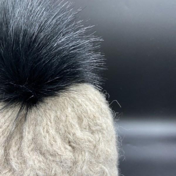 Gorro alpaca trenza marron claro ARMATTA 3