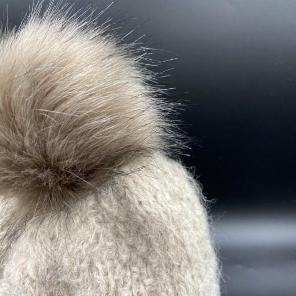 Gorro alpaca trenza marron claro ARMATTA 4