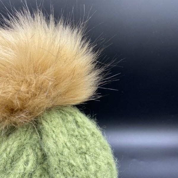 Gorro alpaca trenza verde ARMATTA 3
