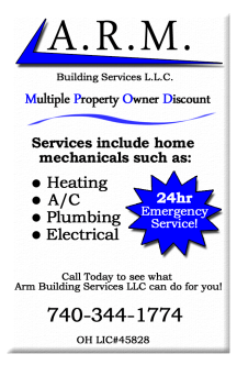 Multiple Property Owner discount ARM Building Services Newark Ohio 43055