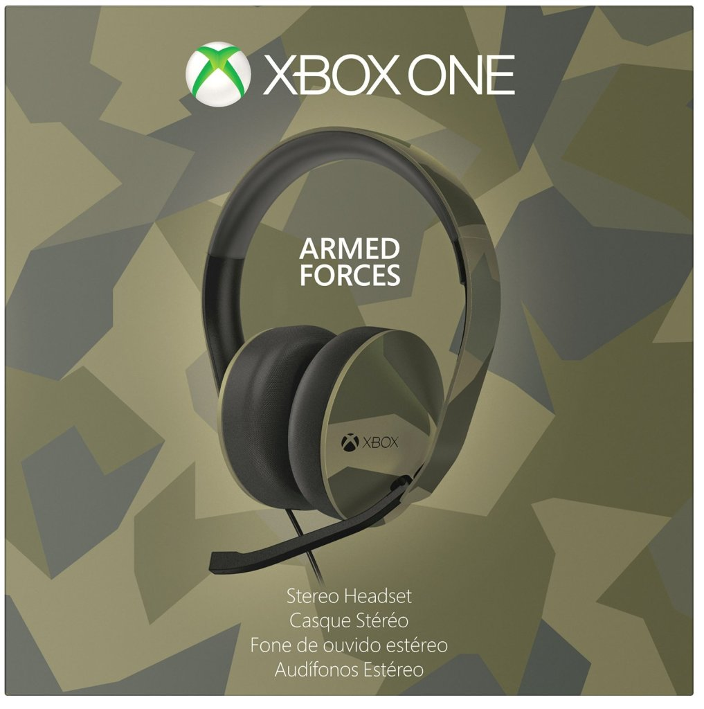 The Xbox One Stereo Headset Armed Forces edition. Your enemies will never see it!