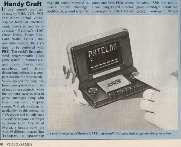 To say the bottom of page 10 of the May 1983 issue of Video Games magazine is interesting is an understatement.