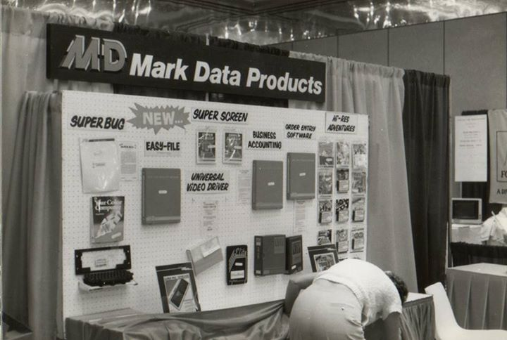Image from Frank Hogg showing a Mark Data Products booth.