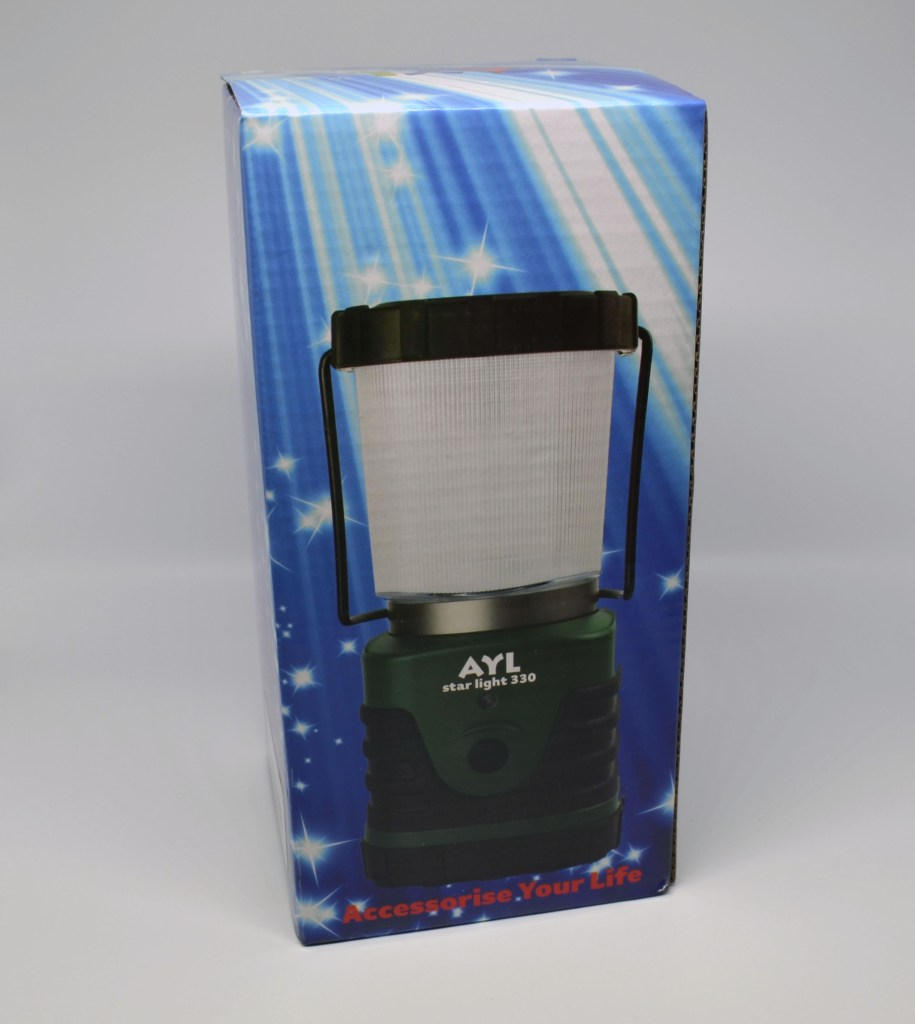 AYL StarLight 330 LED camping lantern packaging.