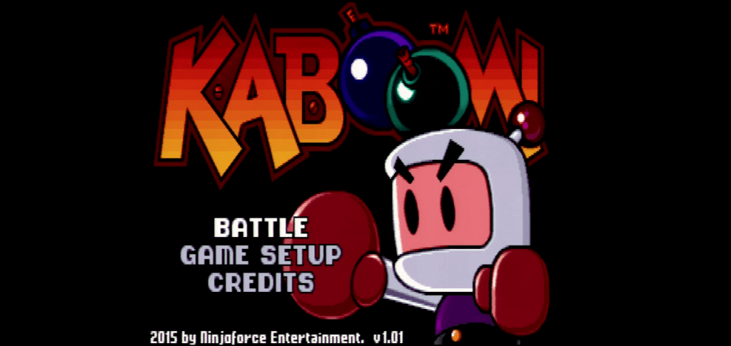 KABOOM! title screen on the IIGS. This is a direct video capture over component.