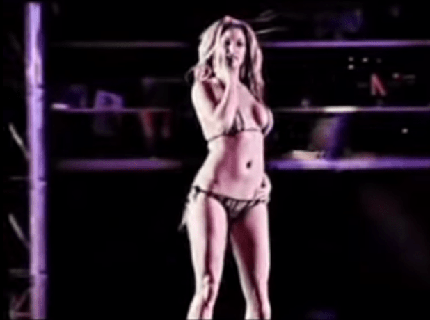 One of the cut scenes. Nudity filmed from the Scores strip club is considered an in-game reward.