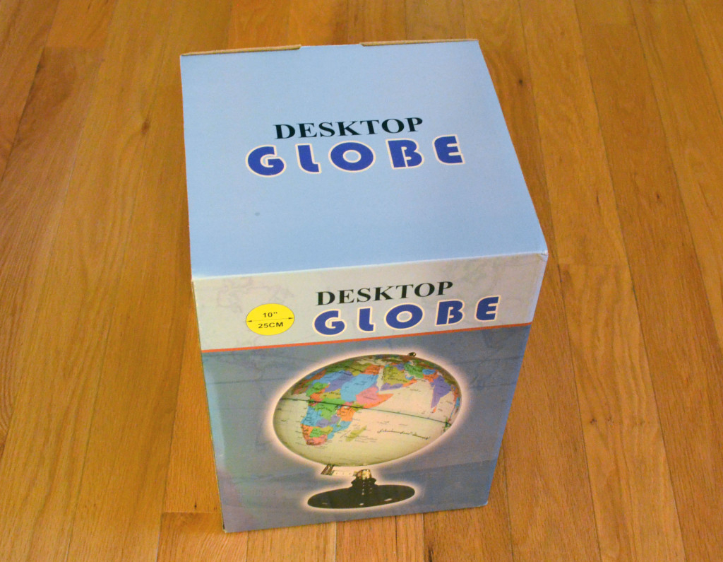 The box for the TCP Global Desktop Globe.
