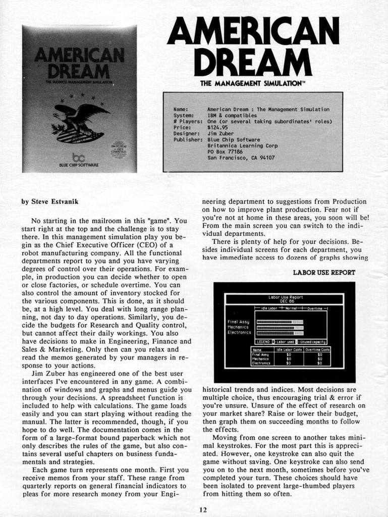 Computer Gaming World, 08/1986 (page 12)