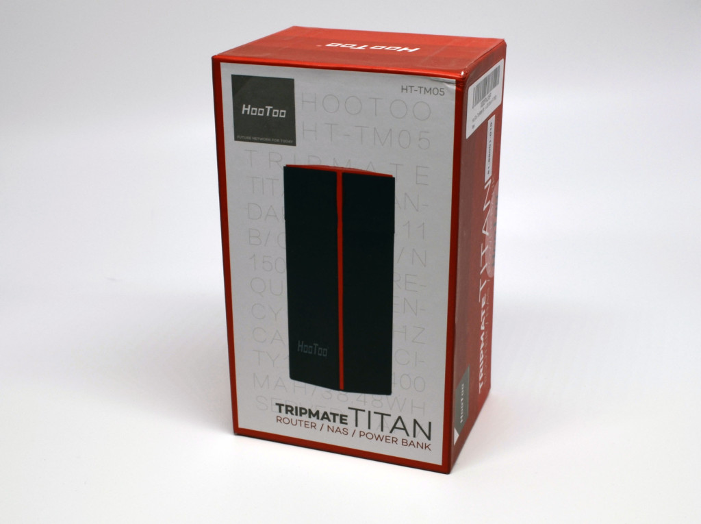 The front of the box for the HooToo TripMate Titan.