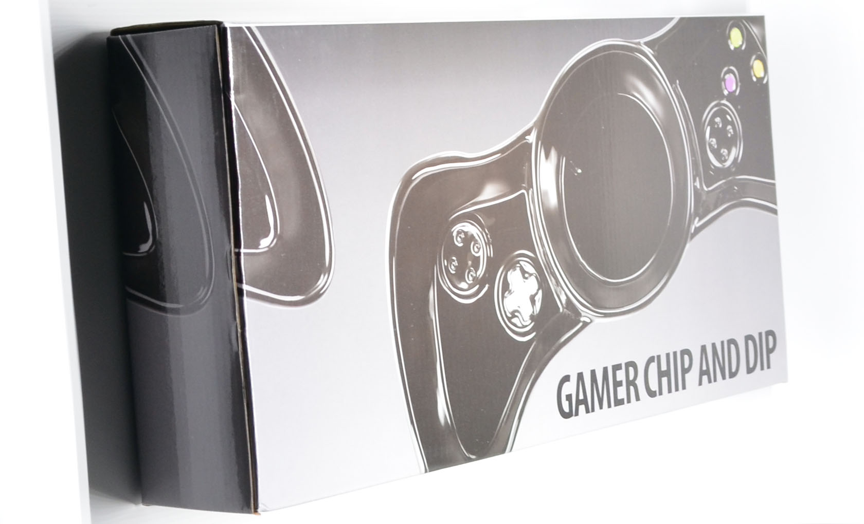 The box for the KOVOT Gamer Chip and Dip Dish.
