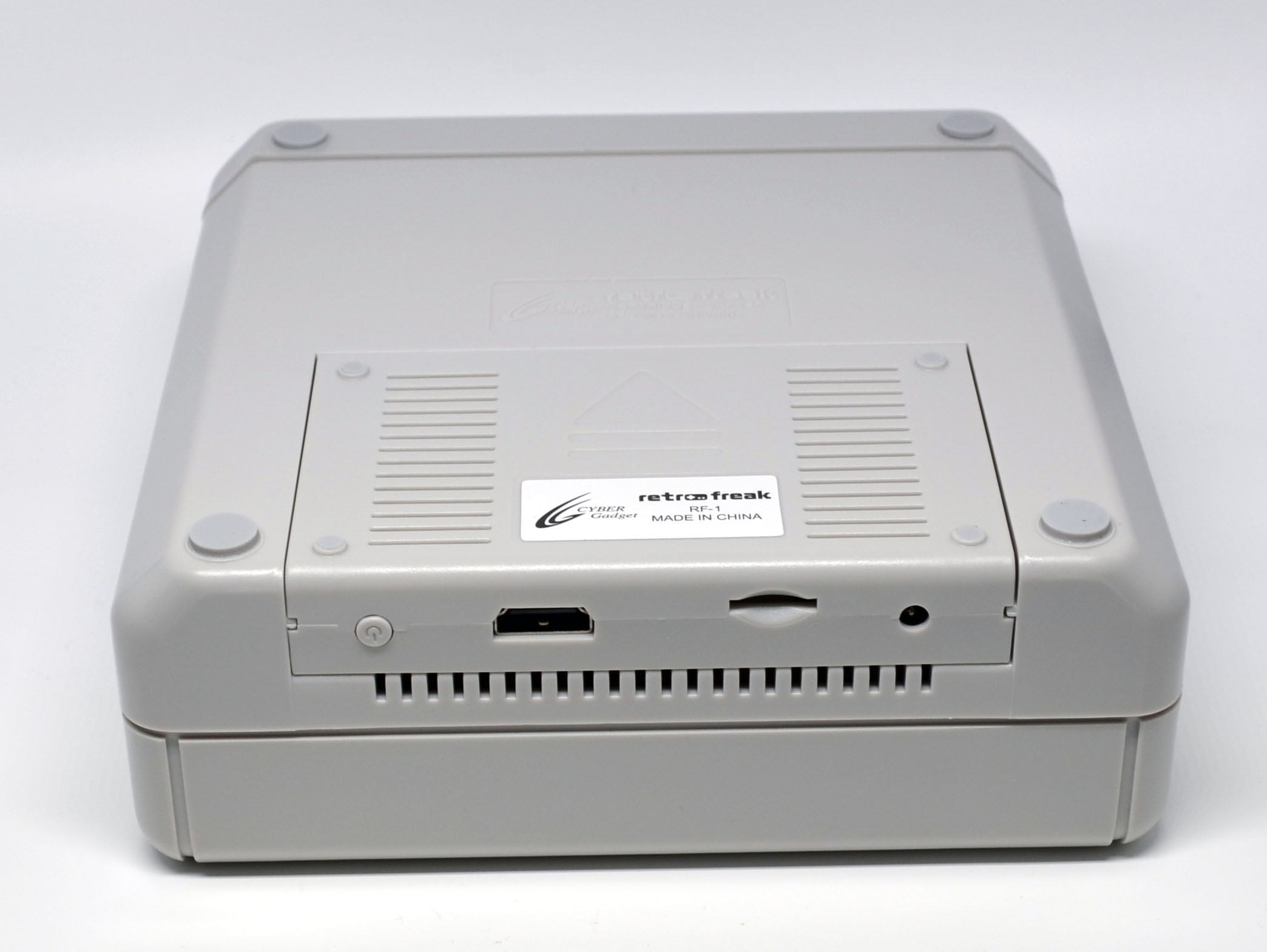 The console inserted into the cartridge unit.