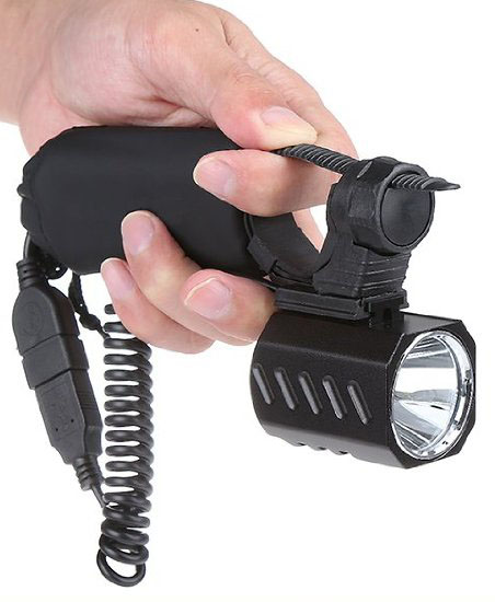 Use as a handheld flashlight.