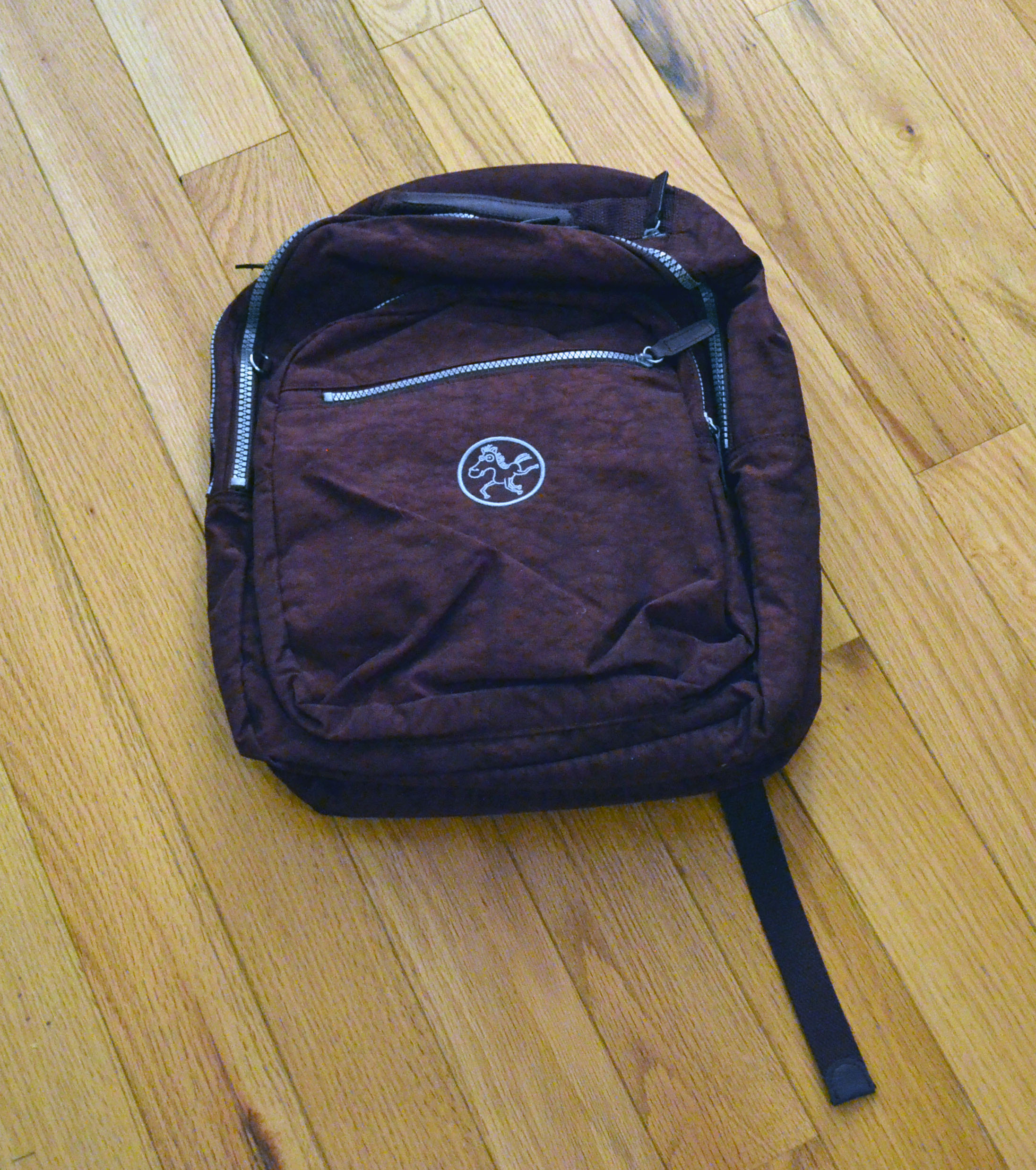 The front of the backpack.