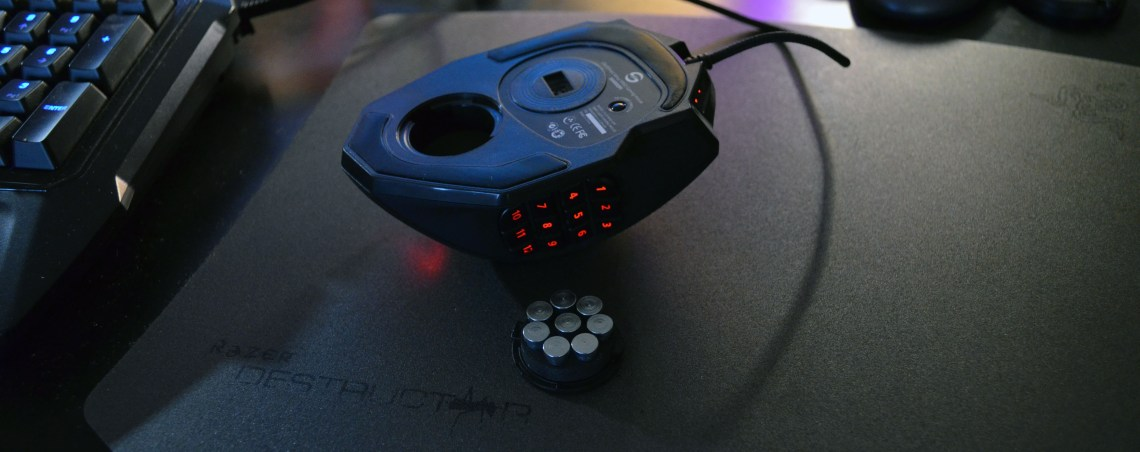 The weights are individually removable and go either inside the mouse or in the included weight case.