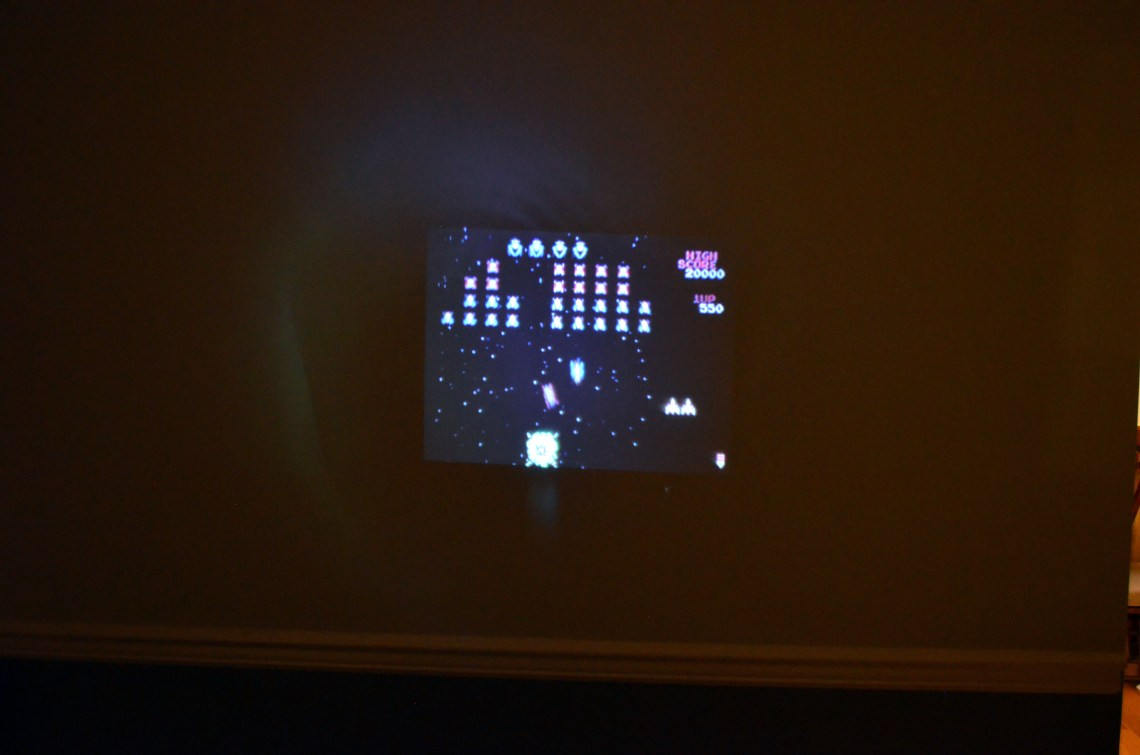 Projecting Pac-Man Connect & Play 35th Anniversary Edition via the composite connection.