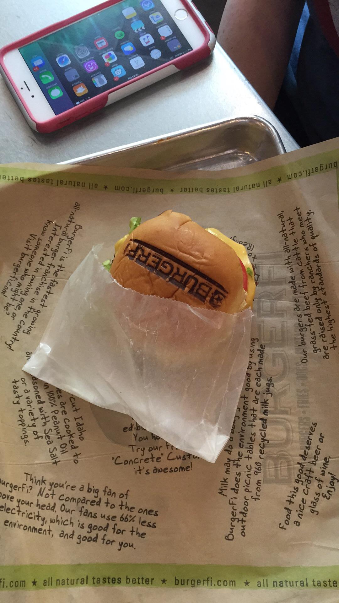 We appreciated the branded bun at BurgerFi.