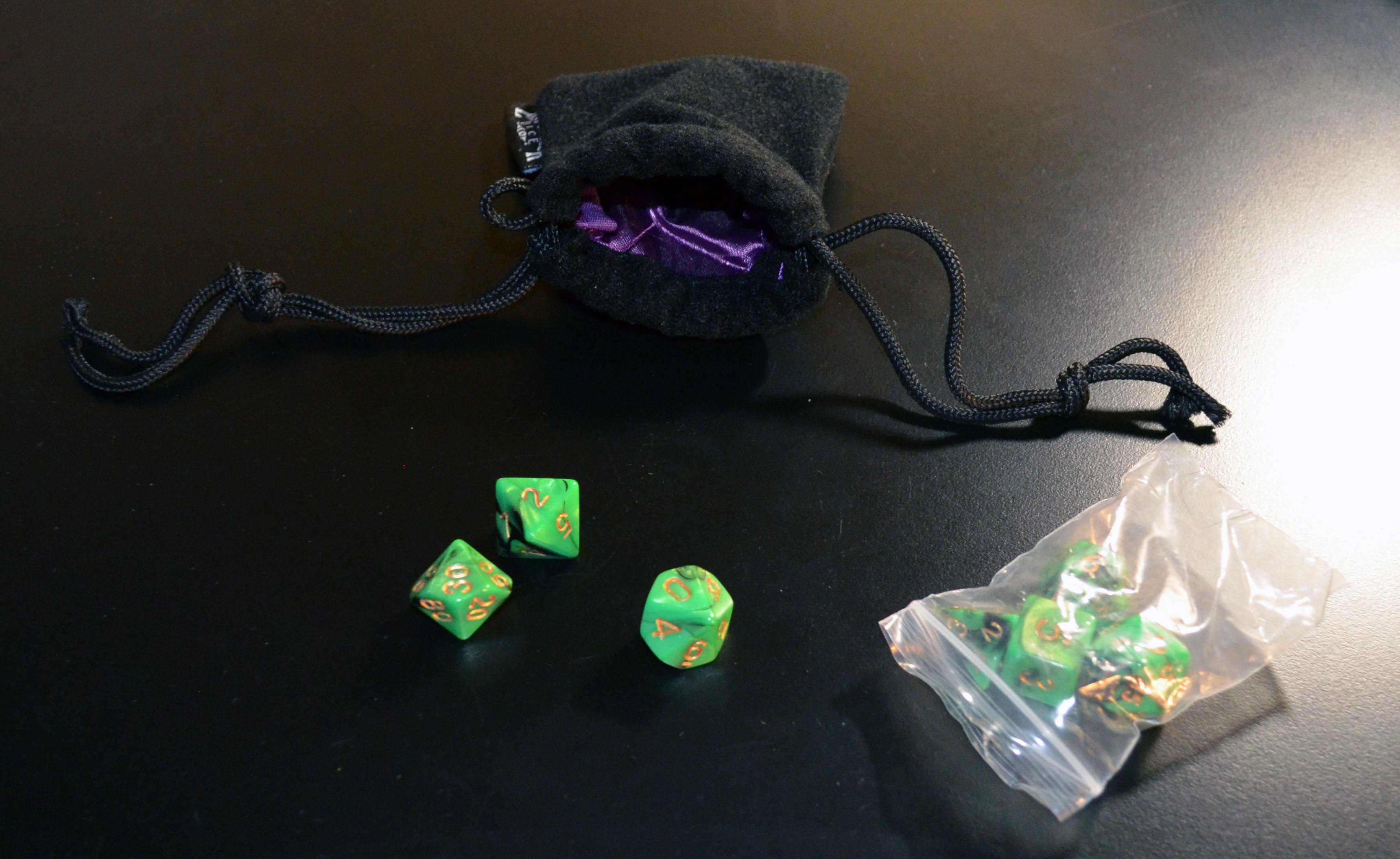 Emerald Swirl Dice