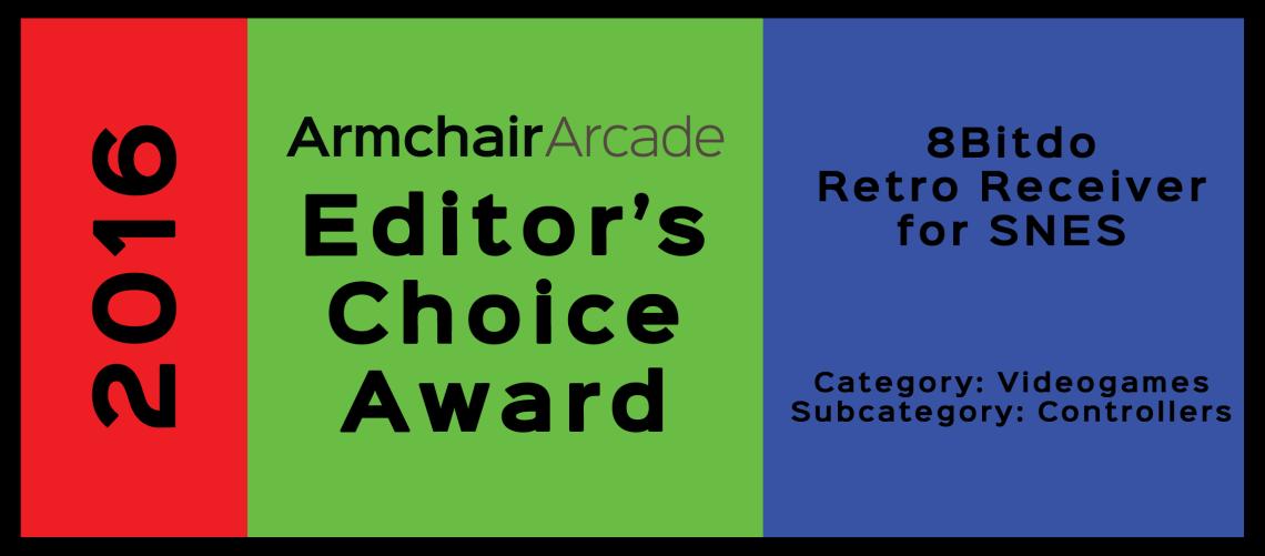 Armchair Arcade Editor's Choice Award 2016: 8bitdo Retro Receiver for SNES