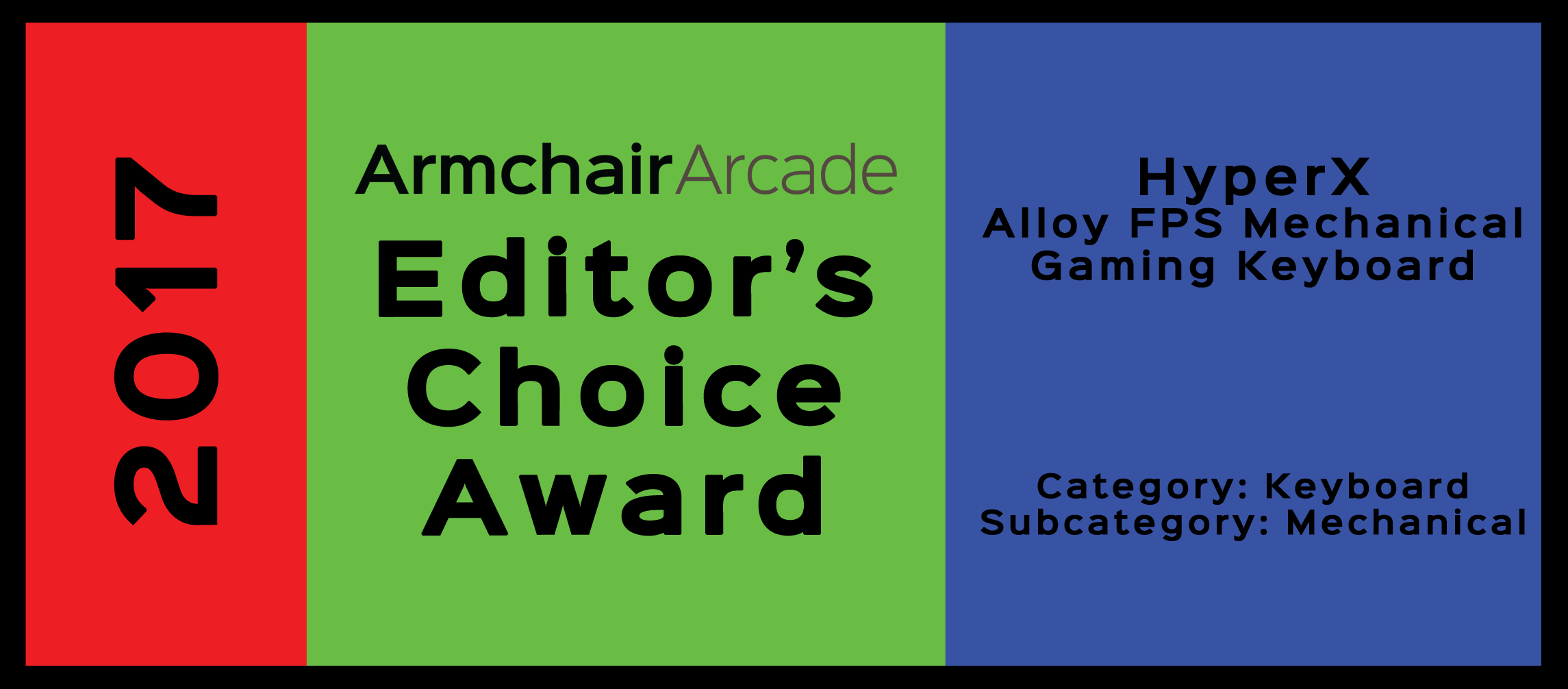2017 Armchair Arcade Editor's Choice Award