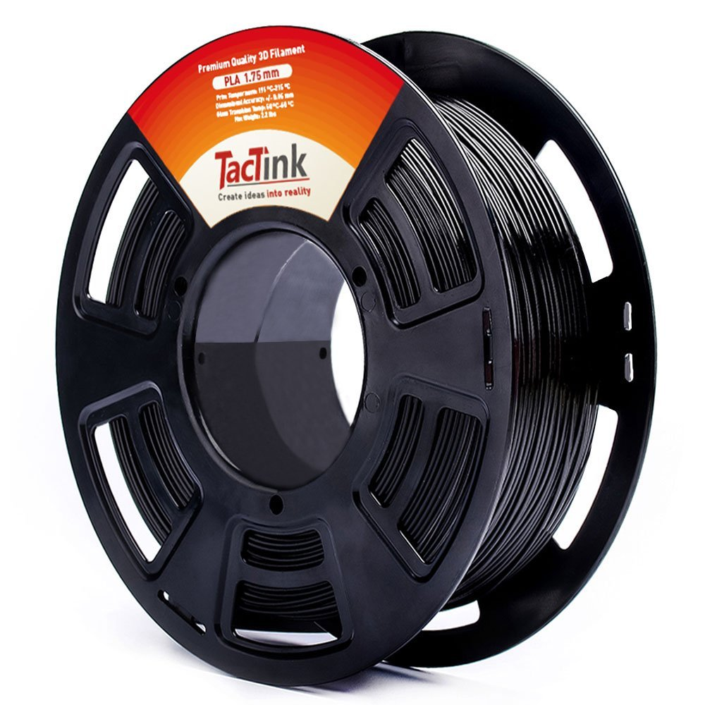 Tactink BLACK PLA 3D printing filament
